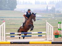 Bay, male rider, Athabasca, august 11, vest